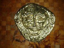 Masque d'Agamemnon bronze doré Grecque XXème Mycenien , funéraire Thracian mask