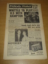MELODY MAKER 1956 JULY 14 LIONEL HAMPTON HUMPHREY LYTTELTON BBC JAZZ NITWITS +