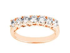 Natural 0.56ct Diamond Wedding Band Ring 14k Rose Gold Round Brilliant Cut I SI2