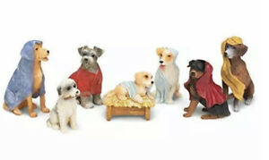 Canine Creche Dog Nativity Scene Decoration, 7 Piece Set NEW