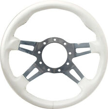 Grant Steering Wheel. White w/ polished spokes. Jet boat, Mercury, V-Drive