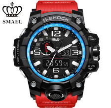 SMAEL Men's Watches Digital LED Electronic Wristwatch Dual Display Army Sports