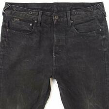 Mens G-Star US LUMBER STRAIGHT Slim Leg Black Jeans W34 L32