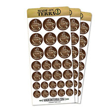 Coffee Cup Removable Matte Sticker Sheets Set