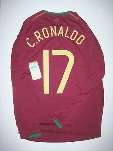Nike 2006 World Cup Portugal Cristiano Ronaldo Long Sleeve Kit Home Jersey Shirt