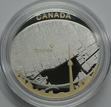 Canada 2011 $25 Dollars Silver Proof Coin - Toronto City Map 2oz  RARE!!!