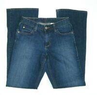Eddie Bauer Womens Bootcut Jeans Sz 2R Classic Dark Wash Stretch Mid-rise