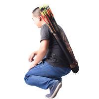 Outdoor Hunting Back Arrow Quiver Archery Bow Holder Shoulder Belt Bag Pouch