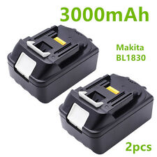 2x MAKITA 18V 3.0Ah 3000mAh LXT LITHIUM ION REPLACE BATTERY BL1830 UK LATEST