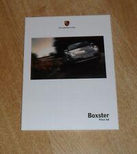 PORSCHE Boxster prezzo Guida & opzioni BROCHURE 2007 987 2.7 3.4 S Tiptronic Gen1
