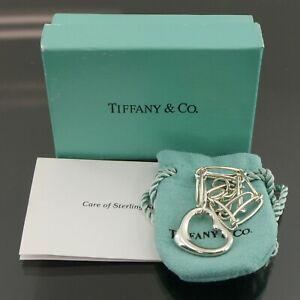Auth Tiffany & Co. Elsa Peretti Open Heart Bracelet 925 Sterling Silver #f36989