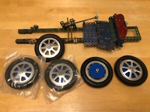 MECCANO BUGATTI VINTAGE RACECAR LARGE UNFINISHED MODEL & PURSANG PAPERWORK