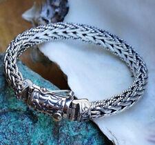 Armband 18 cm Silber Halbrund 8 x 5,5 mm Armkette Kordel Grob Kastenverschluss