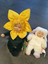 Anne Geddes Brown Sunflower And Rabbit Doll Baby Teddy