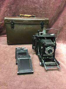 Speed Graphic Graflex Camera w/ Case Optar f/14.5 101 mm Kalart Range 2x3