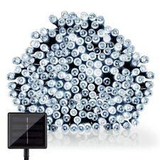 Solar Lichterkette 100 LED Lichtsensor innen/außen statisch/blinkend Solarpanel