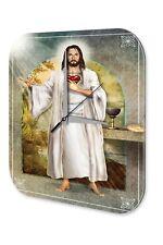 Décor Horloge murale De Bidon Nostalgique  Jésus de croix de coeur Acrylglas