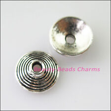 30Pcs Tibetan Silver Cone End Bead Caps Connectors 10mm