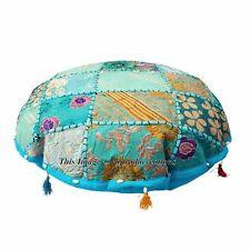 "18"" Patchwork Ottoman Vintage Indian Moroccan Chair Bean Bag Floor Pouf Bohemia"
