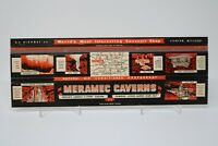 Meramec Caverns Stanton Missouri Vintage Giant Large Matchbook Cover Rare
