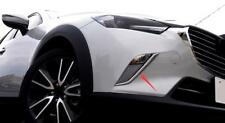 ABS Cromo Delantero Antiniebla Faro Párpado Tapa Embellecedora 2pcs para Mazda
