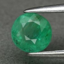 Glowing! 0.64ct 5.2mm Round Natural Green Emerald, Ethiopia