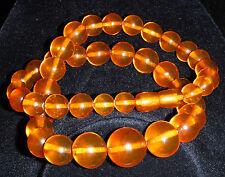 Authentic Baltic 54 cm Amber Butterscotch  Honey Bead Necklace 48 grams
