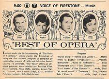 1958 TV OPERA AD~ANNA MOFFO~ROSALIND ELIAS~CESARE VALETTI~CESARE SIEPI~MUSIC