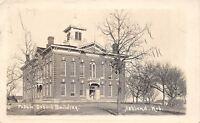 Ashland Nebraska~Italianate Architecture~Public School Building~RPPC c1917