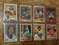 (8) Lee Smith 1982 Topps Fleer Donruss Rookie 2nd Card Lot RC HOF Cubs 1983 1984