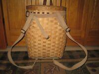 Vintage Large Wooden TRAPPER'S Backpack GATHERING BASKET Adirondack