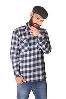 Fine49 Erics Flanell Karo langarm Tartan Rockabilly Holzfäller Hemd