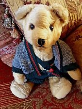 Vintage Clemens West Germany Gold Mohair Growler Bear Ideal Gift for Collectors