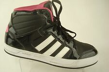 Adidas Neo Label High Top Sneakers Hot Pink Black Fasion Casual Women's 10