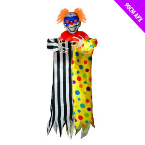 Hanging Evil Eyed Jester Clown - Halloween Battery Operated Decoration Creepy