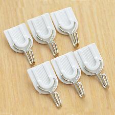 6Pcs Self Adhesive Wall Door Hook Hanger Bag Keys Bathroom Kitchen StickyB NMCA