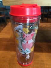 2019 Starbucks Chinese New Year Pig Pink Flower Water Ball Cup Tumbler -No Card