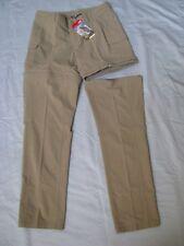 North Face Sz 8 Convertible Outdoor Hike Cargo Pants Zipper Shorts Beige NWT $80
