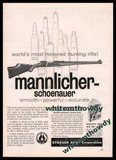 1961 Mannlicher-Schoenauer Vintage Hunting Rifle Ad Advertising