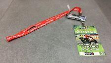 TOUR DE COU DRAGONNE ROUGE VIP GRAND PRIX DE FRANCE MOTO 2004 LE MANS MOTUL