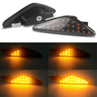 LED Smoked Turn Signal Side Marker Dynamic Light For BMW X5 E70 LCI X6 E71 E72