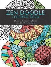 ZEN DOODLE COLORING BOOK Relax Relieve Stress adult book designs anxiety calm