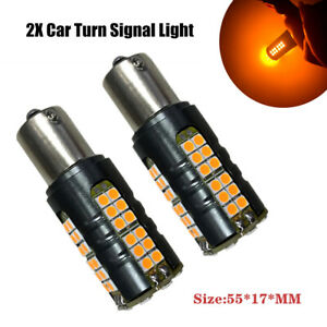 2PCS 30W 3030 900LM Car LED  Amber Bulbs Backup Reverse Turn Signal Light Part