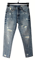 BLank NYC Size 24 Pin-Up High Rise Distressed Woman's Blue Jeans