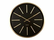Karlsson Maxiemus Brass Large Living Room Wall Clock Modern Design Style