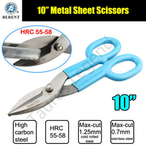 """10"""" American Type Snips Scissors Iron Metal Sheet Wire Cable Tin Cutter"""