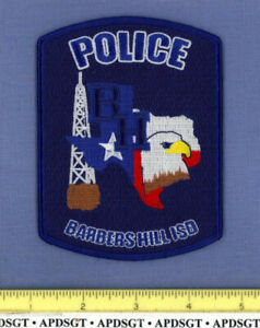 BARBERS HILL ISD INDEPENDENT SCHOOL DISTRICT TEXAS Campus Police Patch OIL WELL