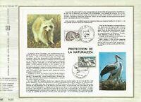 Foglio CEF 1er Giorno Francia Protezione De La Natura (IN Spagnolo) 1973
