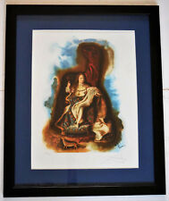 "Salvador Dali ""The Little Prince"" Hand Signed Framed Limited Edition Lithograph"