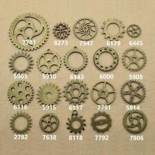 DIY Antique Bronze Charm Clock Gear Wheel Connector Retro Pendant Sawtooth New